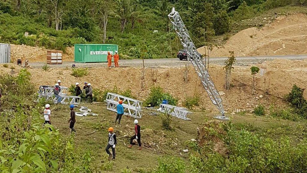 PLN Kebut Pembangunan Menara Transmisi Darurat di Sulut