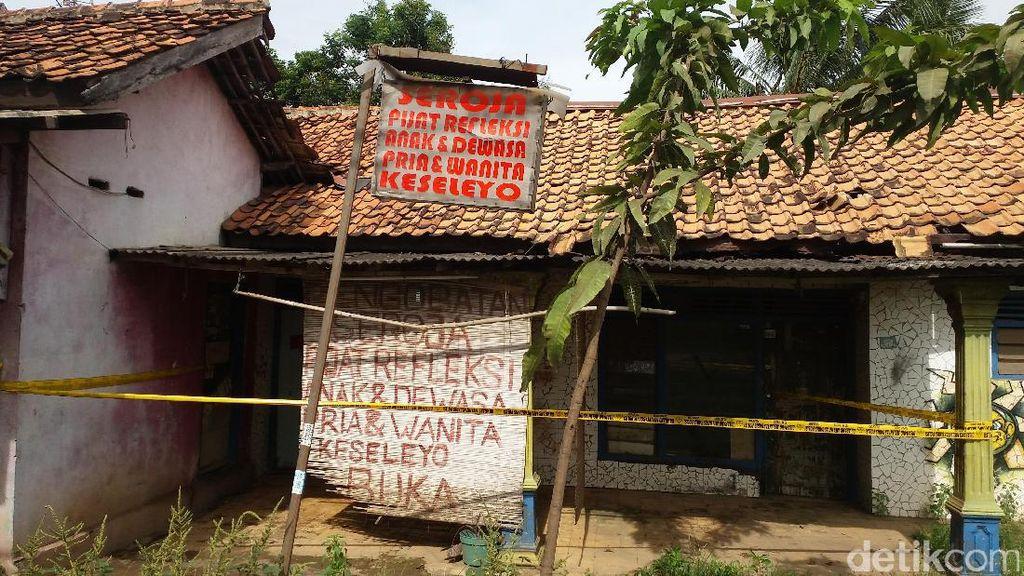 Garis Polisi Masih Terpasang di Panti Pijat Lokasi Pembunuhan Terapis