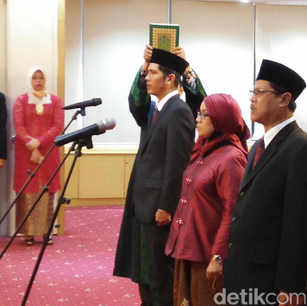 Ketua KPK Lantik 3 Pejabat Struktural Termasuk Jubir Baru Febri Diansyah