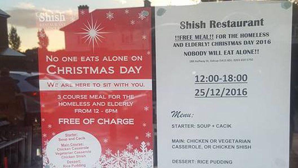 Restoran Muslim Ini Dipuji karena Beri Makanan Gratis Saat Natal