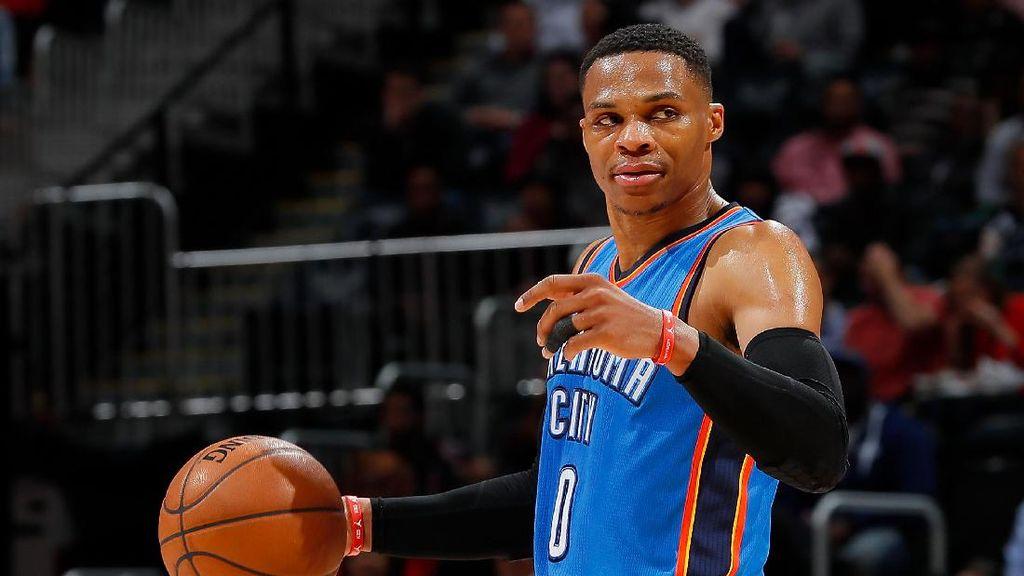 Westbrook Lanjutkan Rentetan Triple-Double, Thunder Menang Lagi