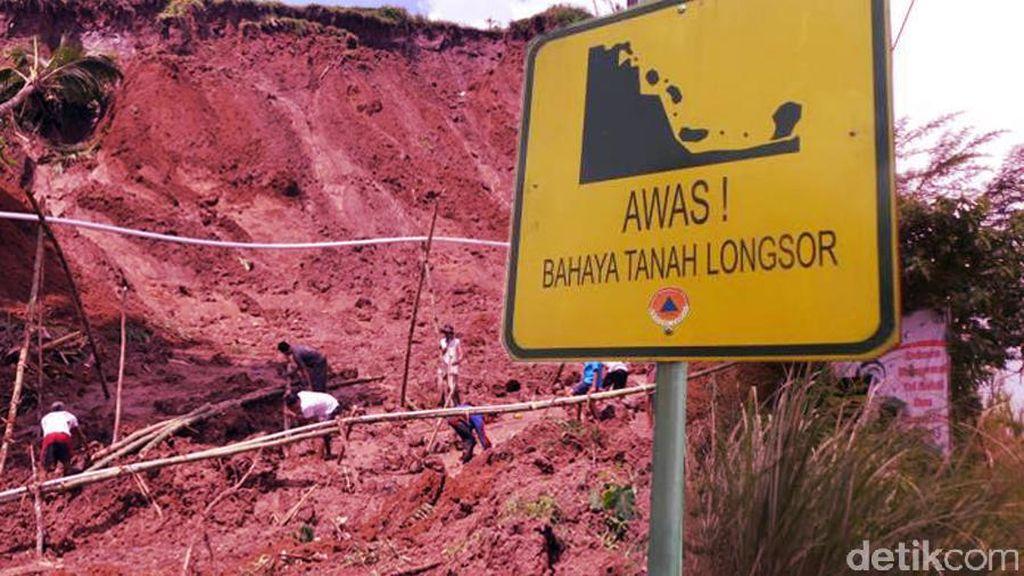 Masih Perbaikan Dampak Longsor, Jalan Kolmas Lembang Belum Bisa Dilalui Mobil