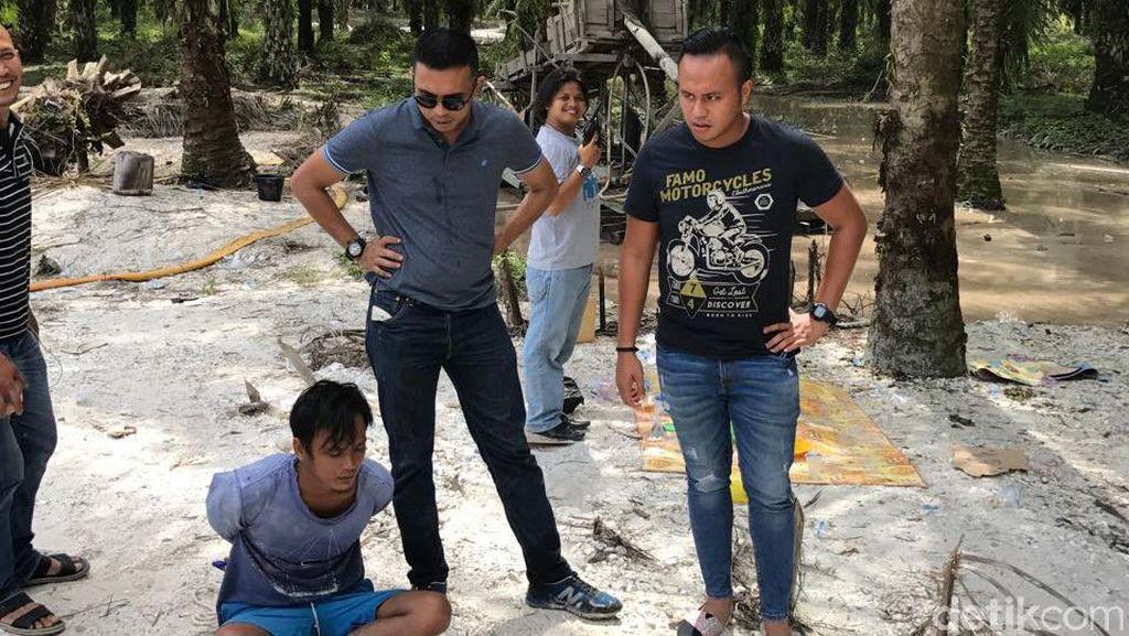 Polisi Tangkap 2 Pelaku Tambang Emas Ilegal di Kuansing Riau
