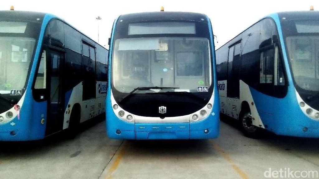 Sudah Sepekan Lebih 23 Bus ZhongtongParkir di Tanjung Priok