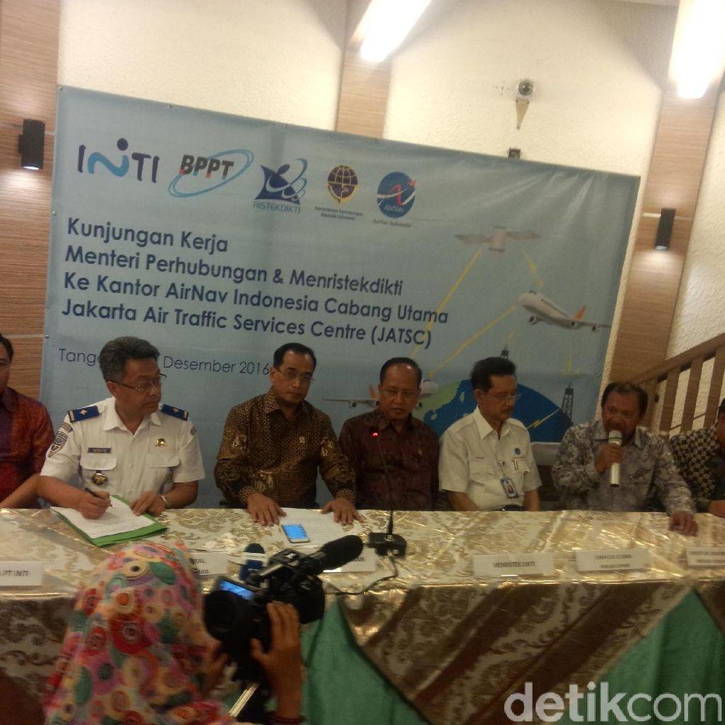 Menhub dan Menristek Cek Radar Buatan Lokal di Bandara Soekarno-Hatta
