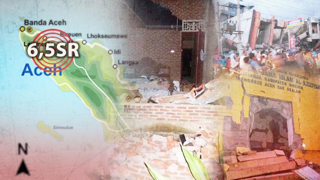 69 Gempa Susulan Terjadi di Pidie Jaya Pasca Gempa 6,5 SR