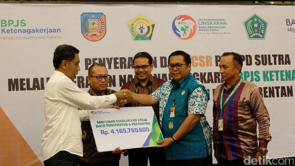 Terdaftar 6 Bulan, Karyawan PT Antam Pomala Terima Manfaat JKK Rp 4 Miliar