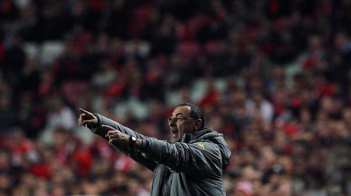 Maurizio Sarri jadi manajer baru Chelsea. (Foto: REUTERS/Pedro Nunes)