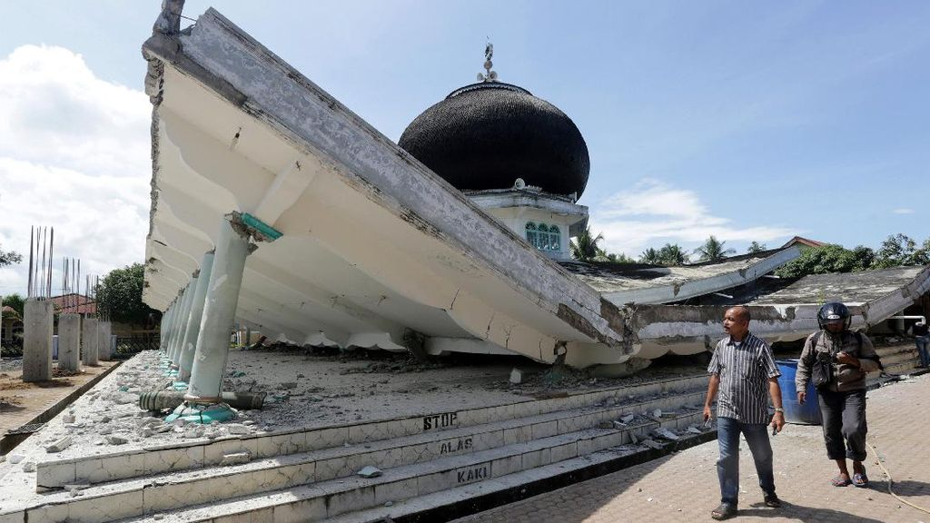 Gempa Aceh: 13 Unit Ruko, 8 Masjid dan 86 Rumah Warga Rusak Parah