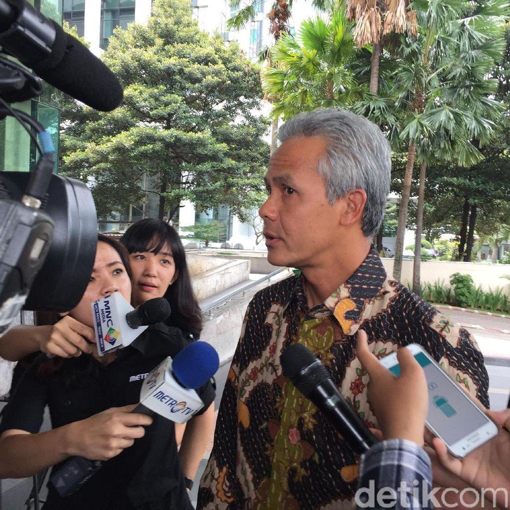 Diperiksa KPK, Ganjar Pranowo Dicecar soal Aliran Uang di Komisi II DPR