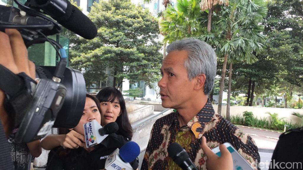 Diperiksa 6 Jam, Ganjar Pranowo Bantah Terima Uang dari Proyek e-KTP