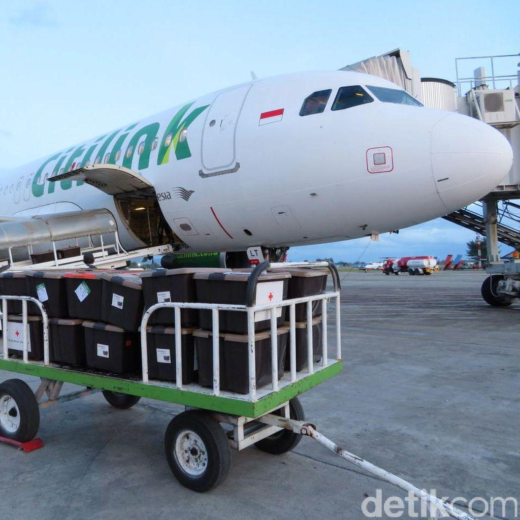 Citilink Salurkan 11 Ton Bantuan dari PMI untuk Korban Gempa Aceh