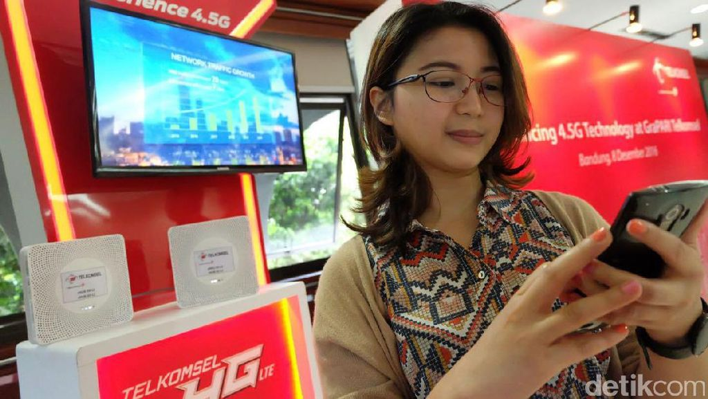 Internet 4.5G Telkomsel Hampir Tembus 300 Mbps