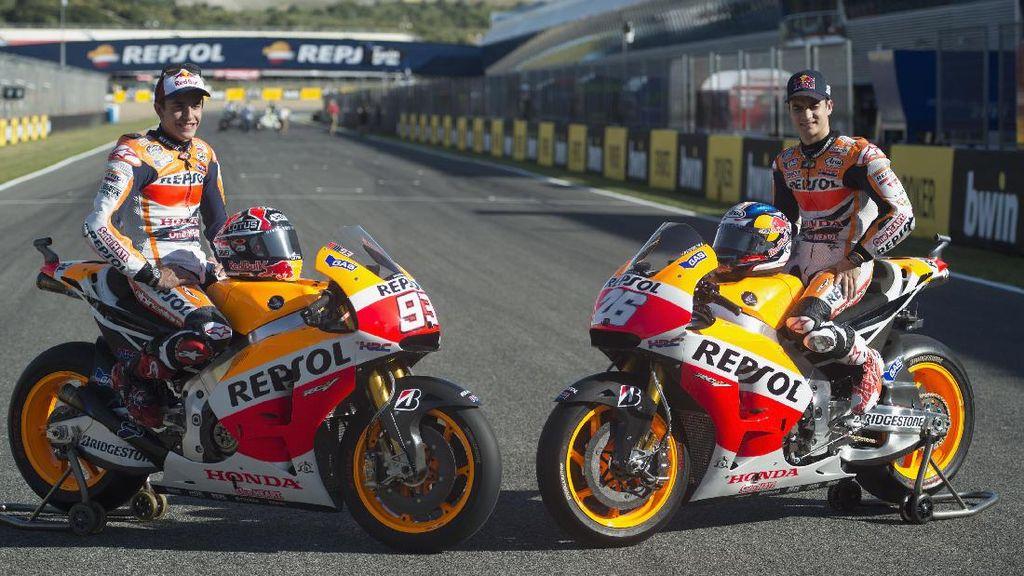 Motor Marquez dan Pedrosa Pakai Knalpot SC-Project