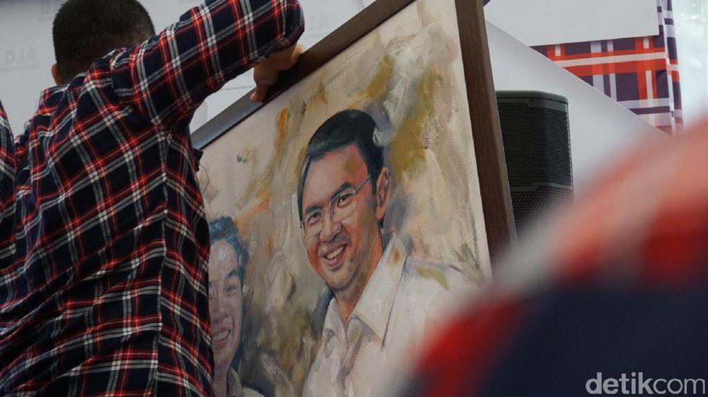 Lukisan Bergambar Ahok Ini Laku Rp 70 Juta dan Disumbangkan untuk Kampanye
