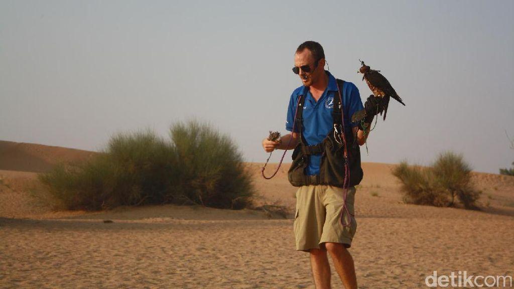 Lihatlah Pertunjukan Elang Berburu di Dubai