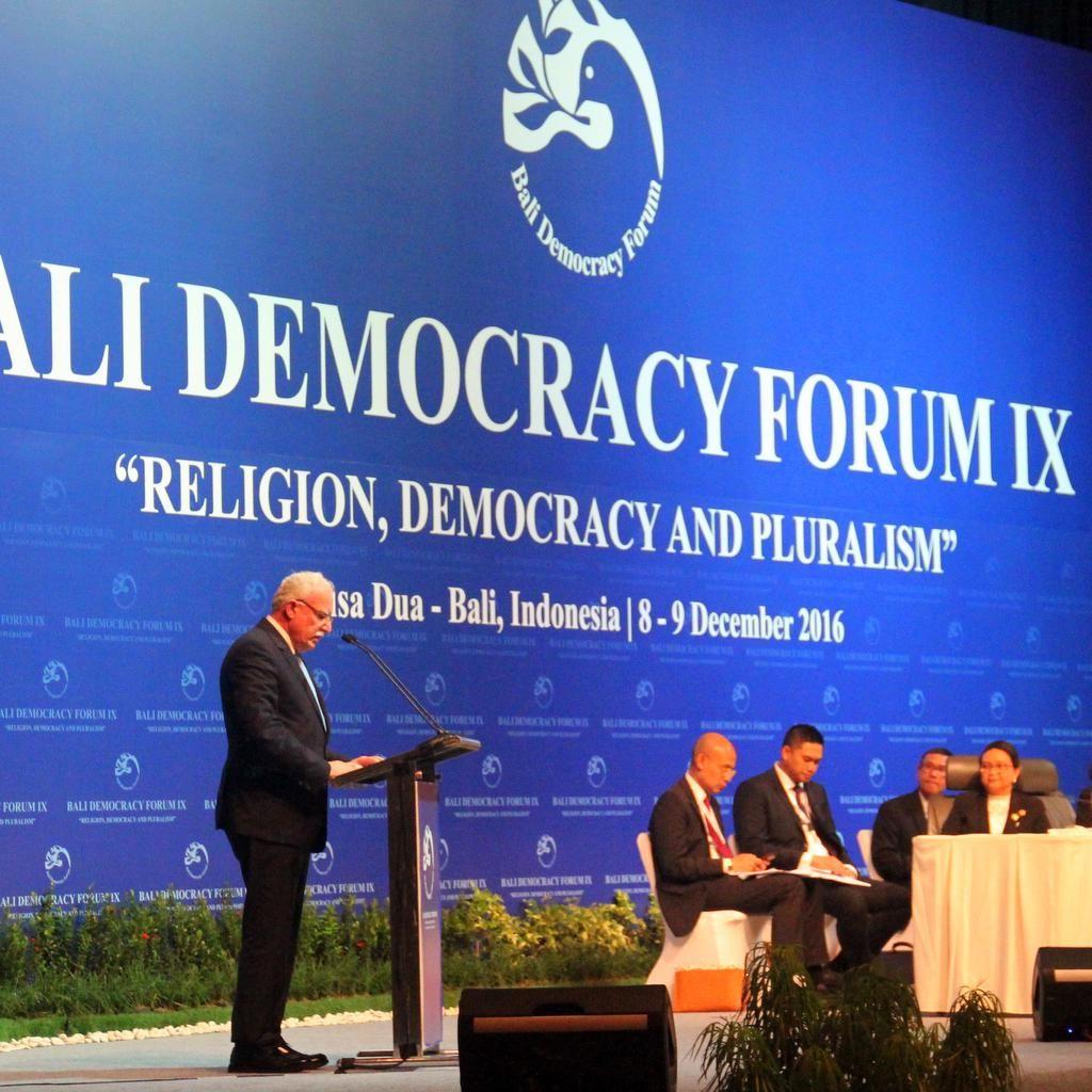 Hadir di Bali Democracy Forum, Palestina Dukung Pluralisme dan Sikap Toleran