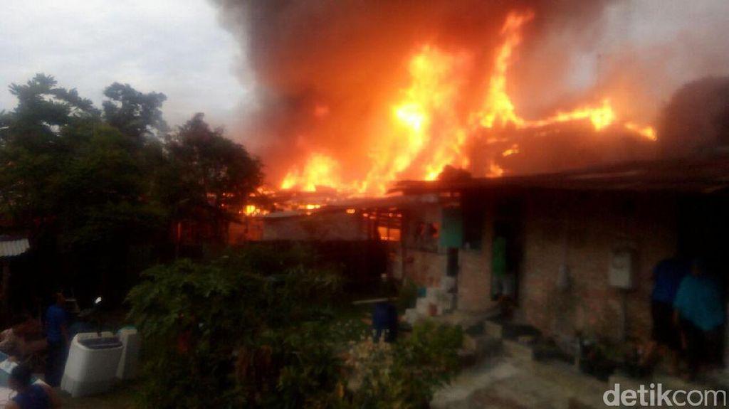 Barak TNI di Pekanbaru Terbakar, Diduga karena Korsleting Listrik
