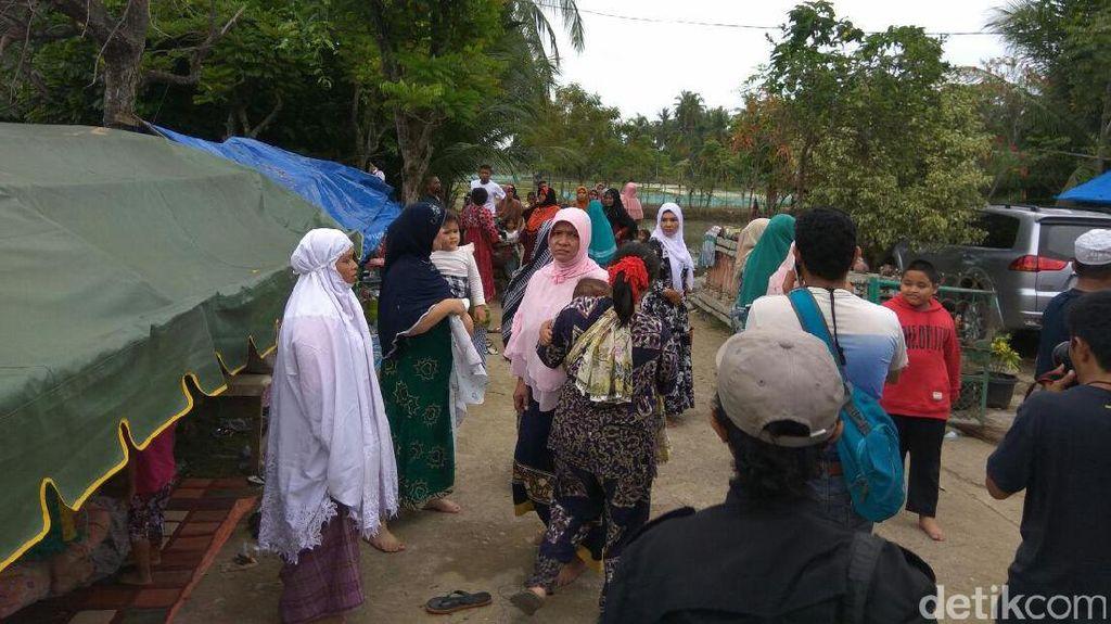 Gempa 5 SR Pidie Jaya juga Buat Pengungsi di Trienggadeng Panik