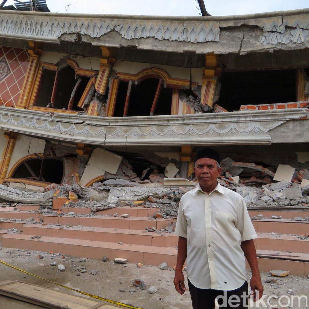 Kisah Muazin di Pidie Jaya, Terjebak Musala Roboh Saat Hendak Azan Subuh