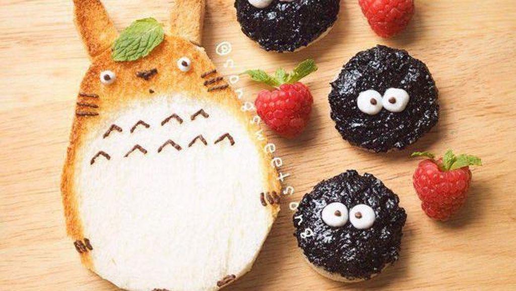 Wouw! Lucu dan Menggemaskan Aneka Kreasi Roti Sarapan Bentuk Tokoh Kartun Ini