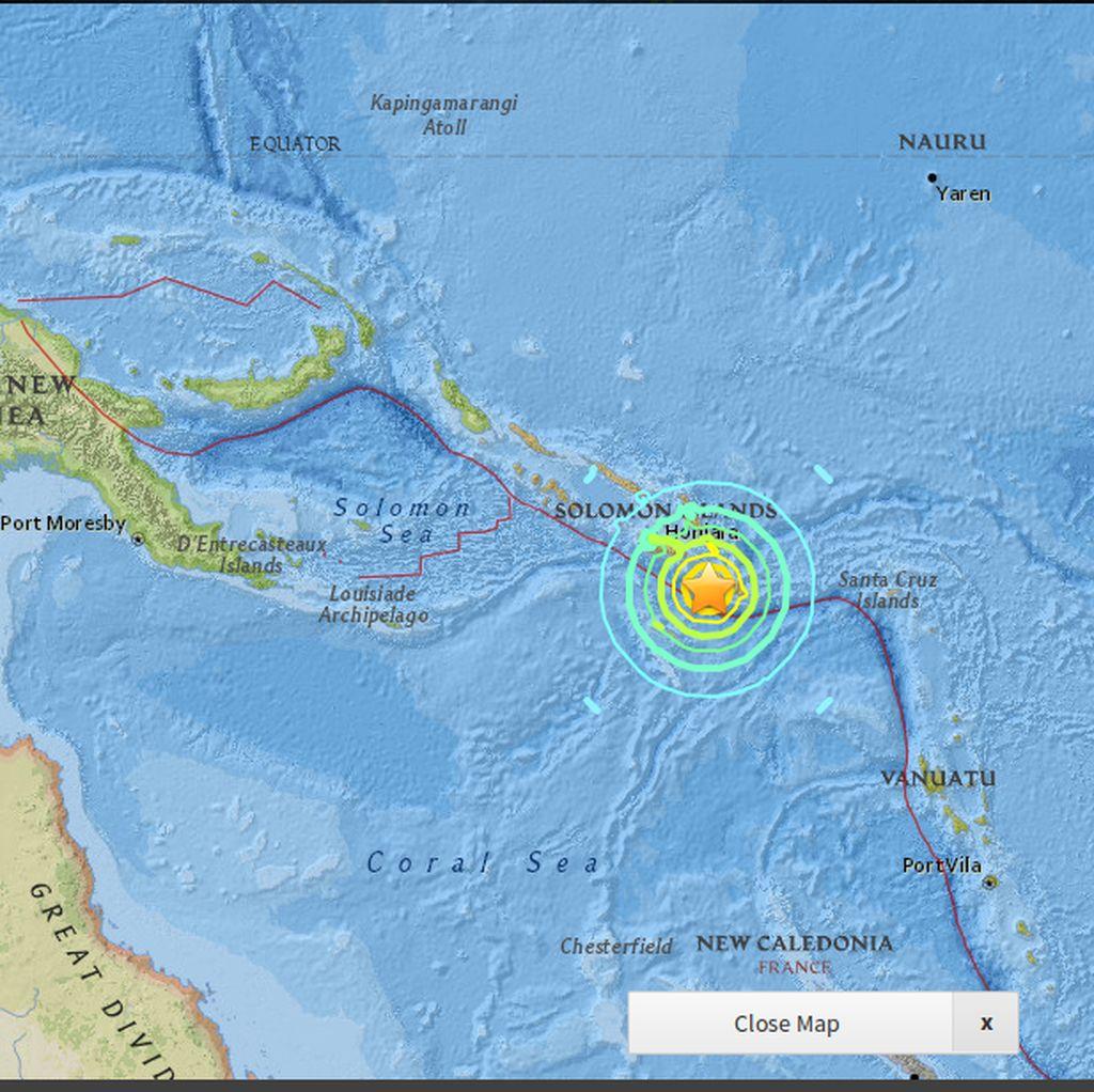 Ancaman Tsunami Akibat Gempa Solomon Telah Berlalu