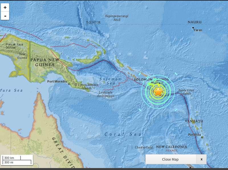 Ini yang Dirasakan Penduduk Kepulauan Solomon Saat Diguncang Gempa