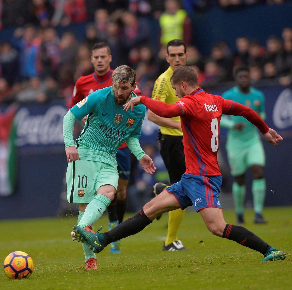 Messi Dua Gol, Barca Lumat Osasuna 3-0