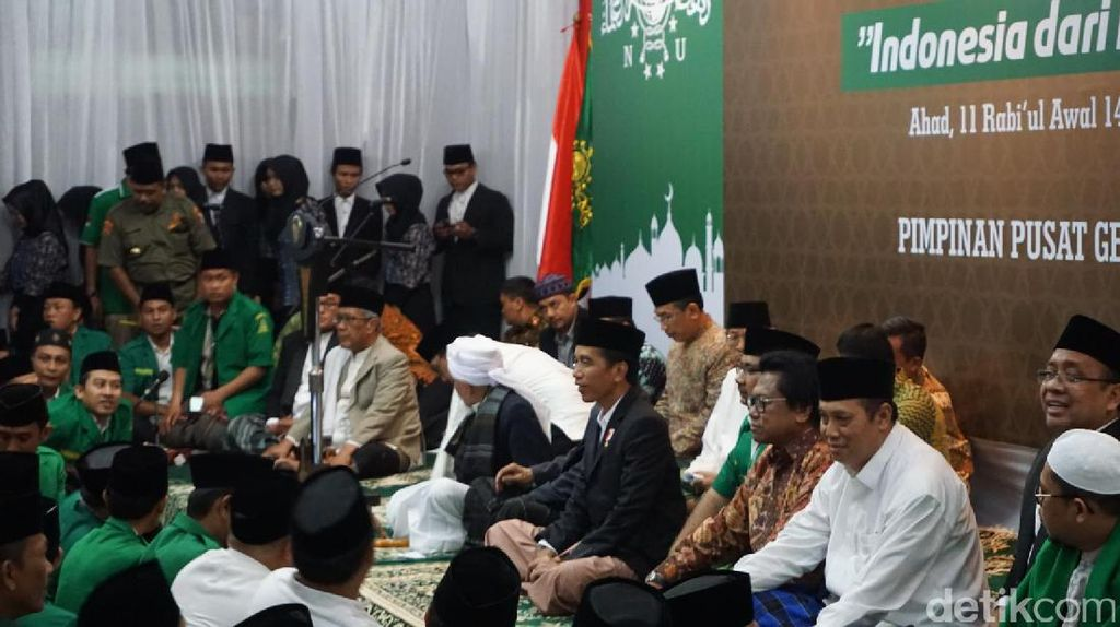 Presiden Jokowi Hadiri Peringatan Maulid Nabi di PP GP Ansor