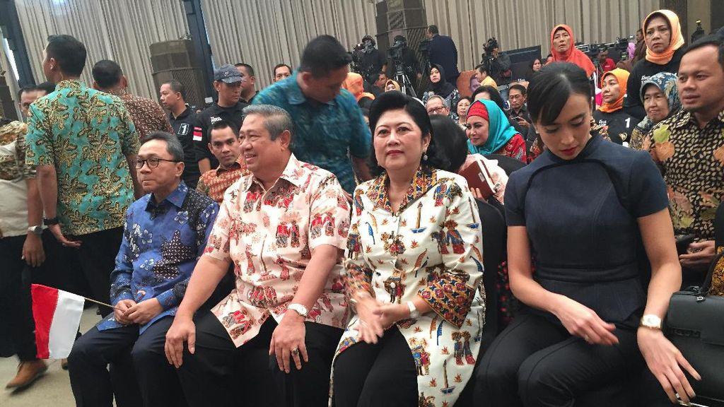 Surprise SBY Hadiri Pidato Politik, Agus Yudhoyono: Terima Kasih Pepo