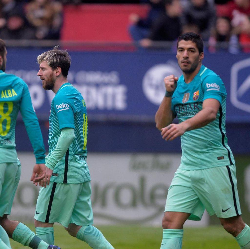 Optimisme Suarez soal Kans Barca Jadi Juara Liga
