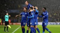 Vardy Hat-trick, Leicester Hantam Manchester City 4-2