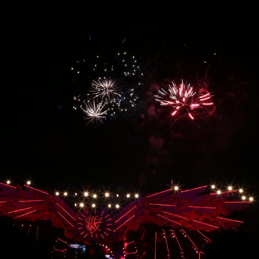 Pesta Cat dan Kembang Api Jadi Penutup Rangkaian DWP Tahun Ini