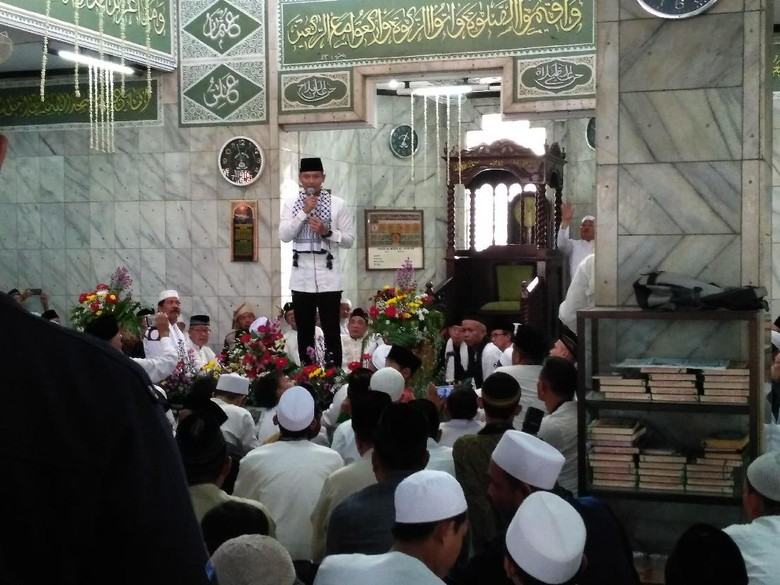 Sampaikan Sambutan di Masjid, Agus Yudhoyono: Maaf Tak Bisa Kampanye