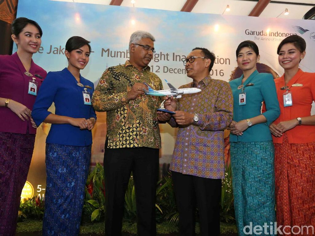 Garuda Indonesia Layani Penerbangan Jakarta-Mumbai
