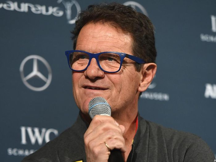 BERLIN, GERMANY - APRIL 18:  Laureus World Sports Ambassador Fabio Capello speaks during the Football press conference prior to the 2016 Laureus World Sports Awards at Messe Berlin on April 18, 2016 in Berlin, Germany.  (Photo by Tom Dulat/Getty Images for Laureus)