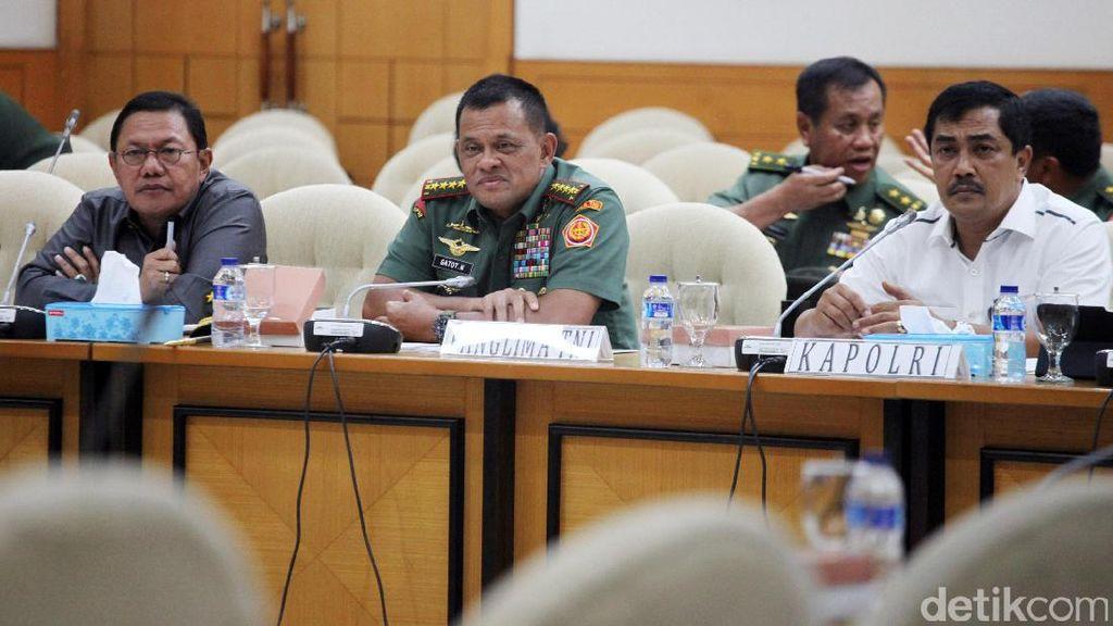 TNI, Jaksa Agung, dan Polri Rapat Dengan Pansus Pemilu