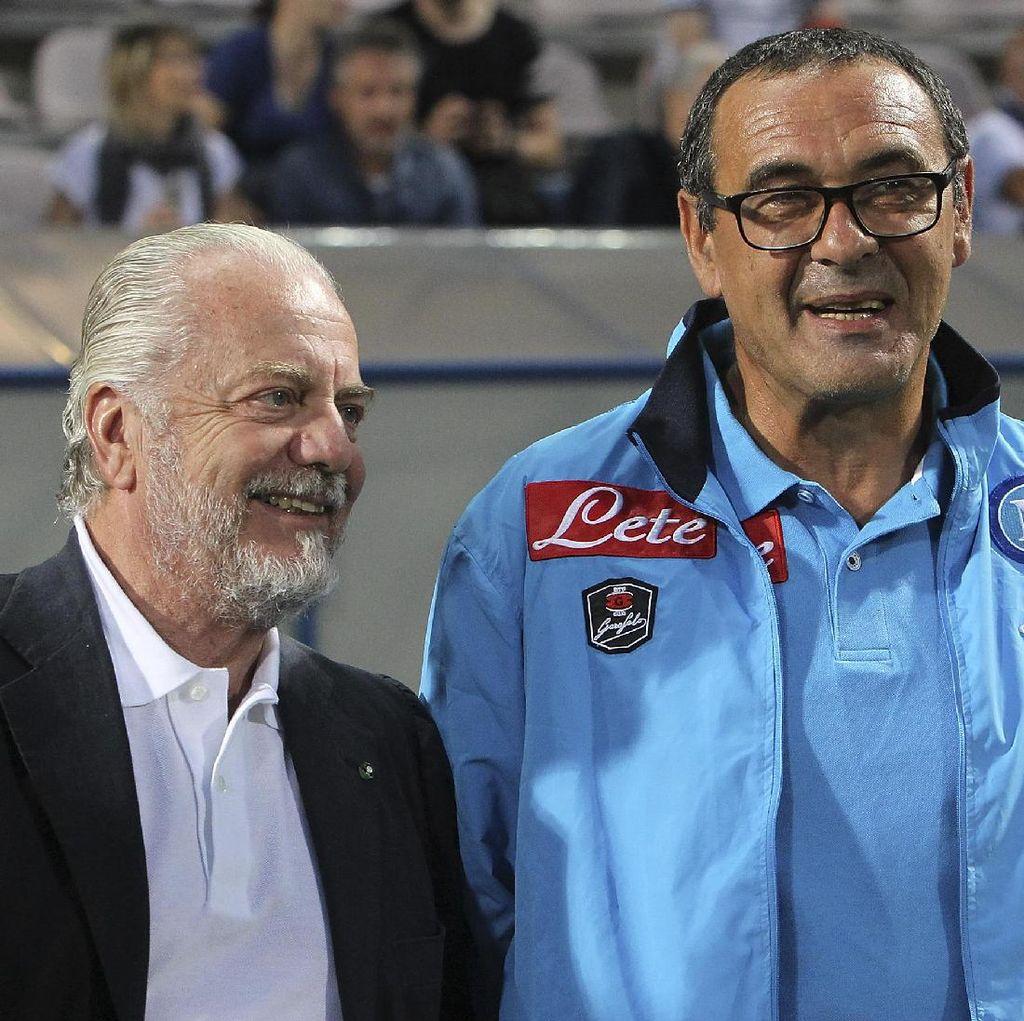 De Laurentiis: Sarri Sudah Menduga Napoli Akan Bertemu Madrid