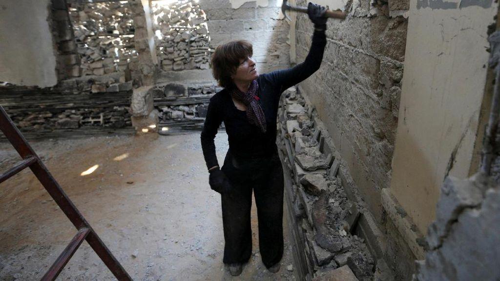 Seniman Belanda Sulap Reruntuhan di Jalur Gaza Menjadi Karya Seni Arsitektur