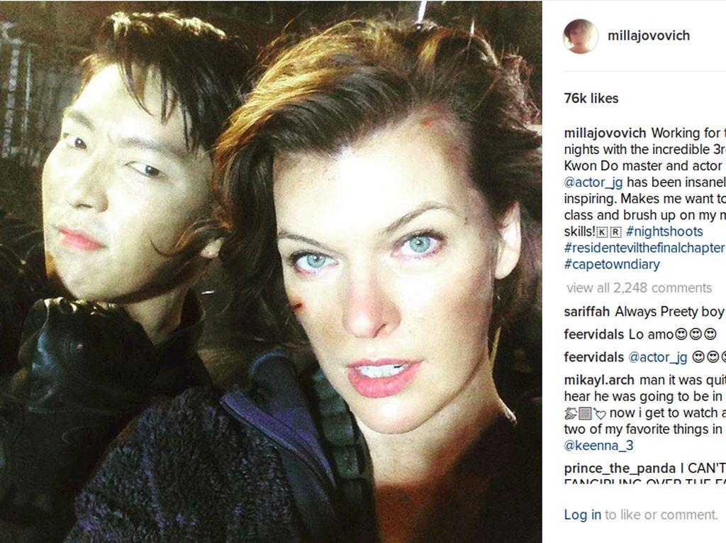 Main Bareng di Resident Evil, Milla Jovovich Puji Akting Lee Jun Ki