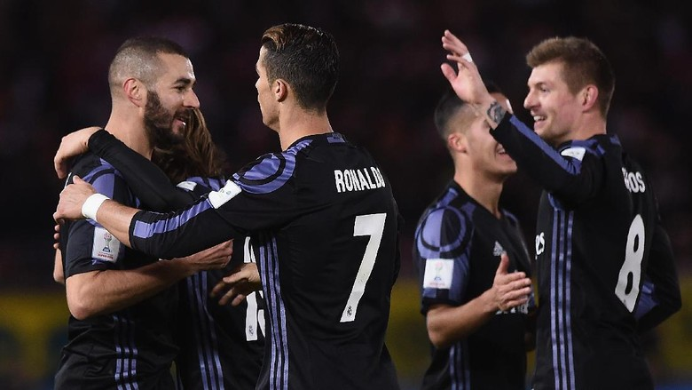 Aksi Ronaldo-Benzema Bawa Madrid ke Final Piala Dunia Antarklub