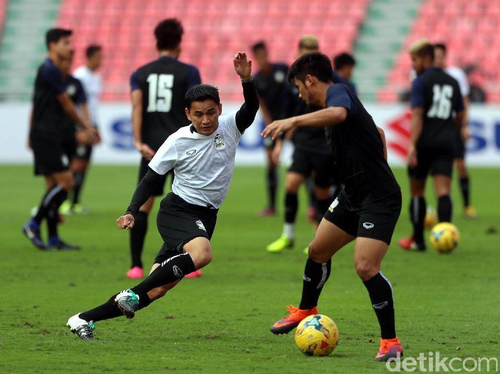 Jelang Final Leg Kedua, Thailand Berlatih Keras