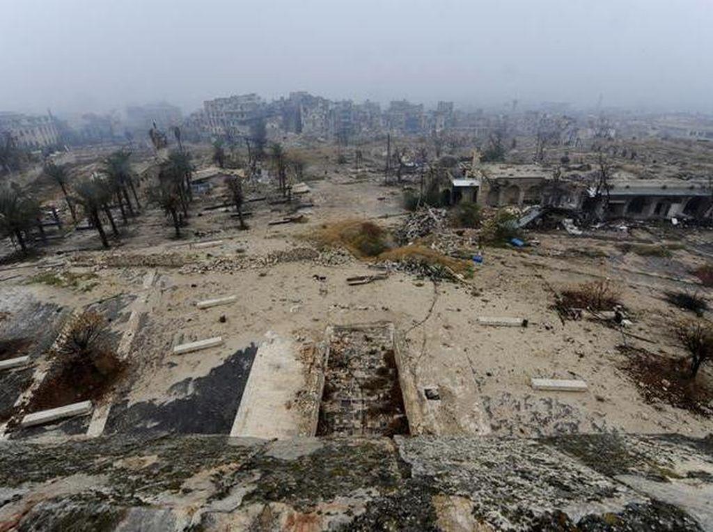 Suriah Tuding Pemberontak Tembak Mati 21 Warga Sipil di Aleppo Timur