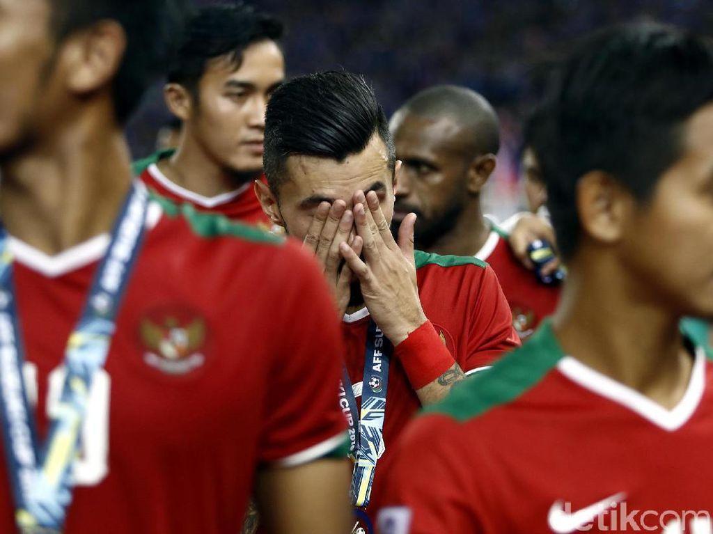 Wajah Sedih Pemain Timnas Indonesia