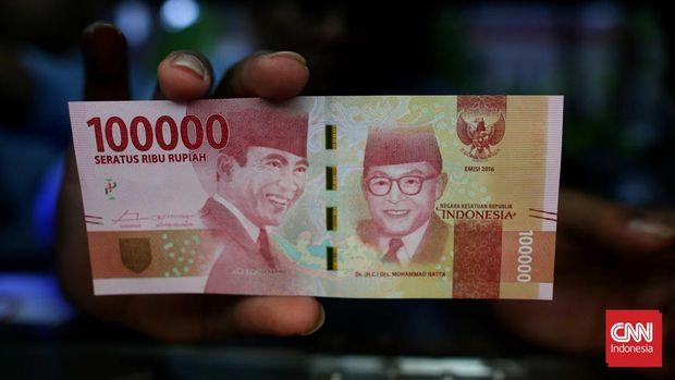 Sukarno-Hatta dalam uang pecahan Rp100 ribu emisi 2016.