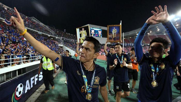 Pelatih yang dikaitkan dengan Persib Bandung, Kiatisuk Senamuang. (Foto: Athit Perawongmetha/Reuters)