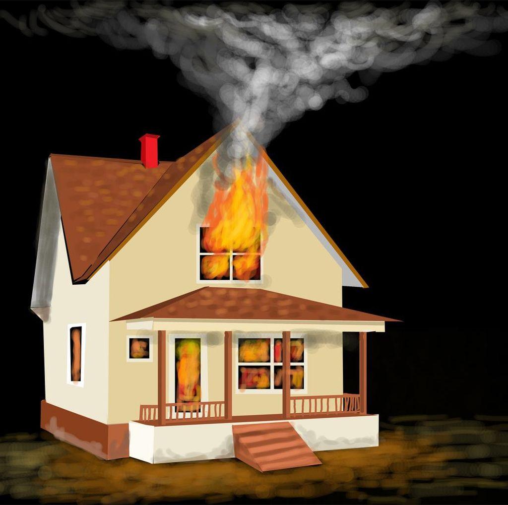 Rumah Kontrakan di Tendean Terbakar Akibat Korsleting Listrik