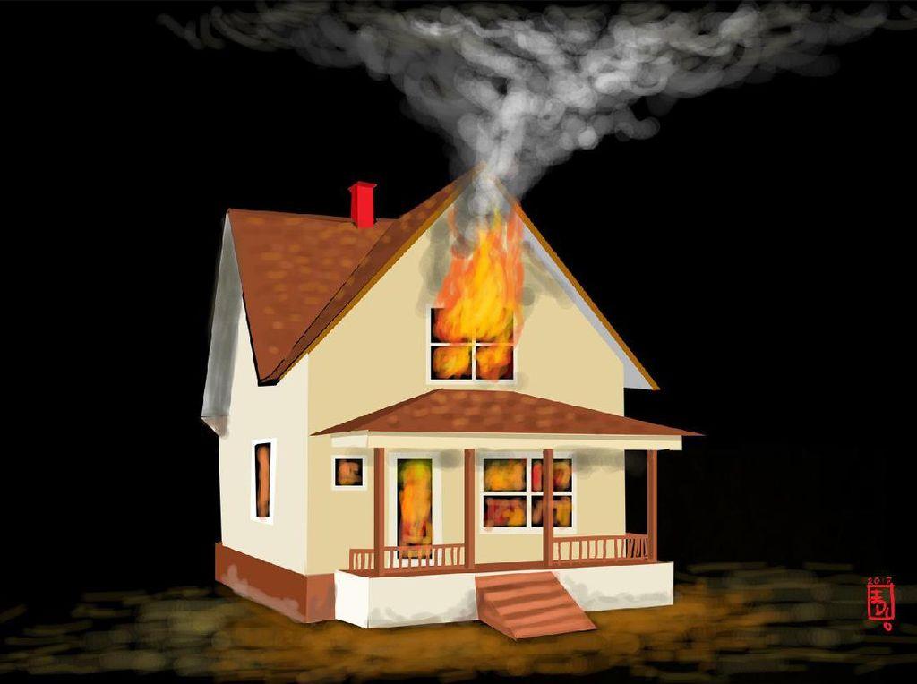 Rumah Terbakar di Bukit Duri, 14 Unit Mobil Damkar Dikerahkan