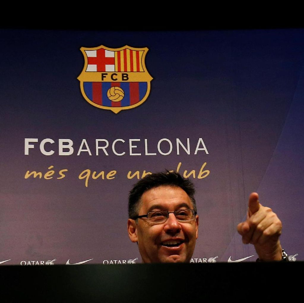 Laporta Kritik Bartomeu yang Hilang Usai Barcelona Kalah Telak