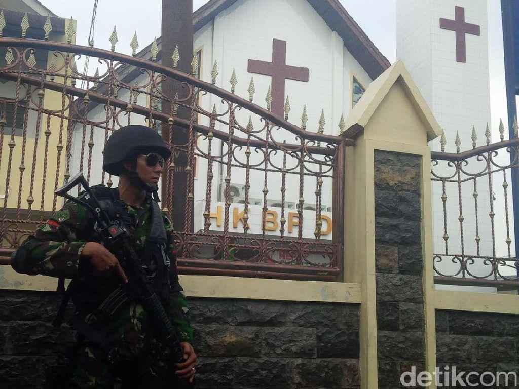 Jelang Natal, TNI Turunkan Tim Jihandak dan Cek Keamanan Gereja di Medan